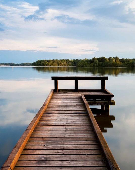 zdjęcie Jezioro, rzeka i las.